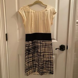 Black and Ivory BCBG Dress
